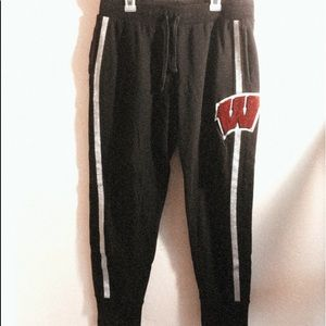 Black Wi Badgers PINK Joggers